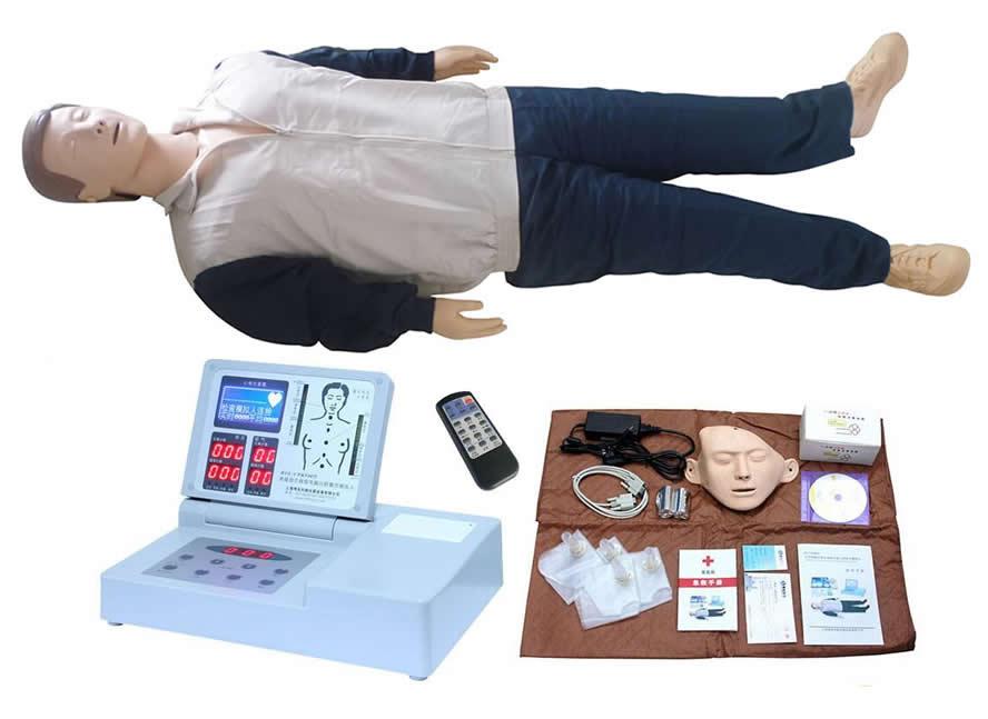 高级液晶彩显电脑心肺复苏训练模拟人(RF摇控器控制)