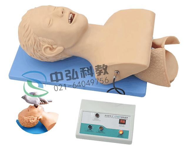高级电子人体气管插管训练模型(带报警)